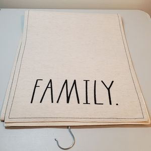 New Rae Dunn 'Family's Table Runner